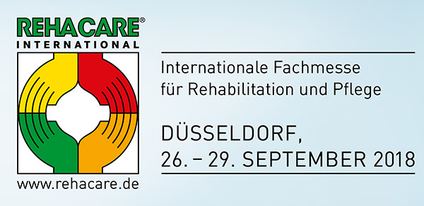 Rehacare 2018 - Internationale Fachmesse für Rehabilitation und Pflege im September in Düsseldorf